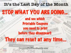 Hurry its the end of the month...print these Printable Coupons before they disappear! : #Coupons, #Printablecoupons Check it out here!!