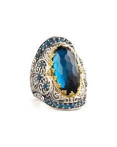 London Blue Topaz Ring, Neiman Marcus. I had to take myself off their email list. It was too tempting.