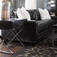 Lexington Black Ice Sapphire Sofa in Black