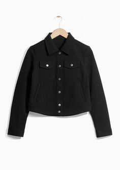 & Other Stories   Cropped Buttoned Jacket