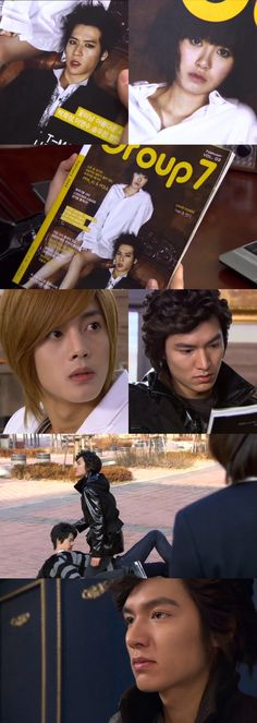 Poor Goo Jun Pyo.  The jealous boyfriend.  Geum Jan Di and Lee Jae Ha (Haje, Ha Je), Boys Over Flowers, Ku Hye Sun, Jung Eui Chul, Lee Min Ho, Kim Hyun Joong #KDrama