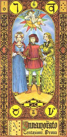 VI. The Lovers - Tavaglione Tarot - The Stairs of Gold Tarot by Giorgio Tavaglione