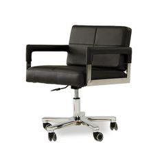 Stylish Design Furniture - Alaska - Modern Black Leather Office Chair, $630.00 (http://www.stylishdesignfurniture.com/products/alaska-modern-black-leather-office-chair.html)