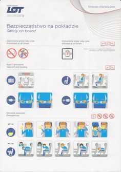 Safety Card  LOT Polish Airlines E170 (1)