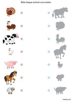 Fiche 13 : jeux imprimer Plus education Farm Animals Preschool, Preschool Learning, Kindergarten Worksheets, Preschool Activities, Teaching Kids, Animal Activities, Toddler Activities, Kids Education, Pre School