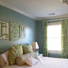 Beautiful custom drapery panels for teen bedroom by DrawnCompany on Etsy  | Windows with Attitude