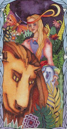 VIII. Strength: Tarot of a Moon Garden