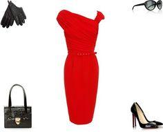 Giambattista Valli dress & Louboutin heels