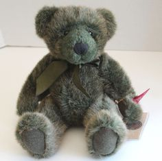 Russ Timperley Vintage Collection Handmade Green Fur Teddy Bear New With Tags…