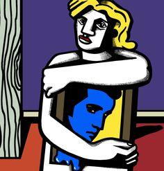 "Marco De Lucca, Pop Art, ""Blue Elvis"", Acryl on Canvas Lucca, Fallout Vault, Pop Art, Canvas, Artwork, Blue, Painting, Fictional Characters, Painting Art"