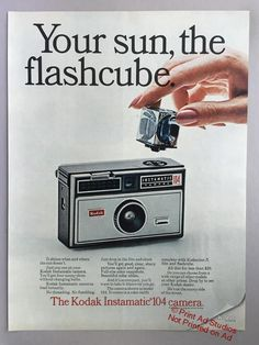 """Vintage Camera 1967 Lot of 3 Kodak Instamatic 104 Camera Print Ads - """"To Load It Is to Love It"""" - Dslr Photography Tips, Vintage Photography, Film Photography, Vintage Advertisements, Vintage Ads, Retro Ads, Print Advertising, Advertising Campaign, Udaipur"""