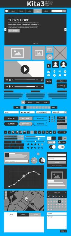 Kita3 - Free Wireframe & Mockup UI Kit