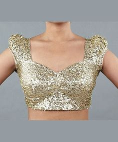 Sequin saree blouse style: