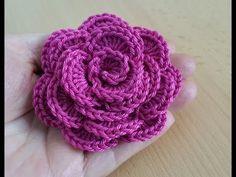 Crochet flower 1 - YouTube