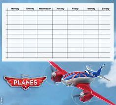 Planes Timetables 06 Friday Saturday Sunday, Monday Tuesday Wednesday, Disney Planes, Airplane, Printing, Printables, Cars, School, Diy
