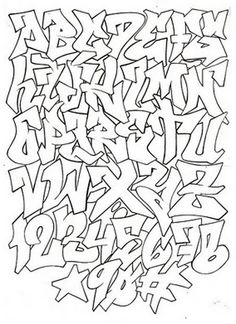 graffiti alphabet for graffiti project
