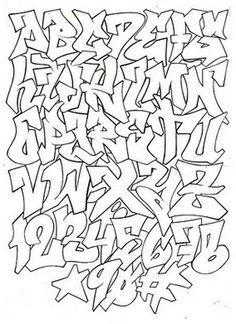 Graffti Alphabet & Numbers #alfabetik #alphabet #art #lettering #graffiti #font #numbers