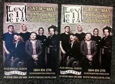 Levellers posters have arrived! Coming to The Baths Hall on 18 May, tickets available from www.scunthorpetheatres.co.uk