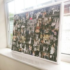 Wedding Photo Collage Canvas 20x30 Inch - Custom designed to our customers needs and personalised with text along the sides. http://www.redcanvasltd.com/buy-collage-canvas/custom-designed-photo-collage-canvas