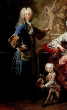 Count Ferdinand Adolf von Plettenberg and his Family by Robert Tournières, 1727 (detail)