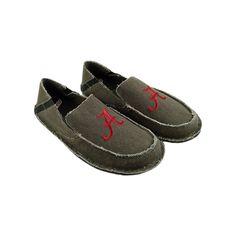 Men's Alabama Crimson Tide Cazulle Canvas Loafers, Size: 11, Grey