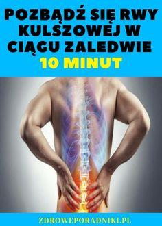 Rwa kulszowa charakteryzuje się dość intensywnym i irytującym bólem, a nawet może mieć wpływ na warunki życia chorego. Dobrą wiadomością jest to, że dzisiaj przedstawiamy Wam skuteczną naturalną metodę w celu złagodzenia bólu kulszowego w ciągu zaledwie 10 minut! Potężna naturalna metoda Sciatica Pain, Arthritis, Back Pain, Good To Know, Health Fitness, Therapy, Hacks, Fitness, Health And Fitness