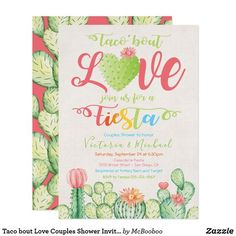 45 Ideas For Mexican Fiesta Bridal Shower Invitations Rehearsal Dinners Invitation Baby Shower, Couples Shower Invitations, Rehearsal Dinner Invitations, Wedding Rehearsal, Wedding Invitation Cards, Rehearsal Dinners, Zazzle Invitations, Party Invitations, Garden Route