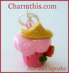 Polymer Clay Princess Aurora Cupcake Charm on Etsy, $3.00 Polymer Clay Princess, Polymer Clay Cupcake, Polymer Clay Disney, Polymer Clay Charms, Disney Clay Charms, Cupcake Crafts, Kawaii, Cute Clay, Cute Charms