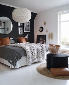 Even if no one ever sees it, your bedroom should still represent your style and feel like a place you […] Scandinavian Bedroom, Cozy Bedroom, Dream Bedroom, College Bedroom Decor, Masculine Room, Best Bathroom Designs, Dere, Pretty Room, Beautiful Bedrooms