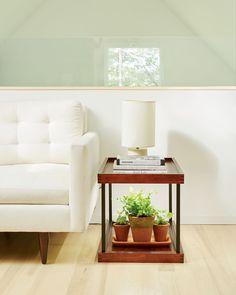 LED grow light side table