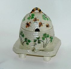 Vintage Bee Skep Honey Pot by MyHeirloomCharms at etsy...would go good with mine