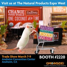 Are you coming to the Natural Products Expo West in Anaheim? Visit us and find out more about the brands we're working with to remove GMOs from the food supply! Take a photo with our team and send a message to the whole world on social media under the hashtag: #GMODairy