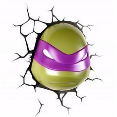 3D Wandleuchte LED Modern Teenage Mutant Ninja Turtles Donatello Design