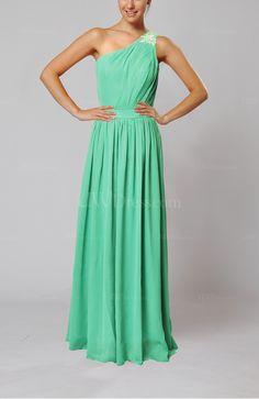 [1] Mint Chiffon Bridesmaid Dress