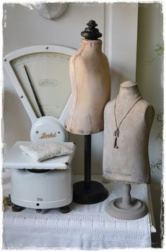 Jewelry mannequins and old scale are available at American Home  Garden in Ventura CA