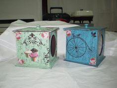 Cajas Decoupage Vintage, Wood Projects, Stencils, Shabby Chic, Scrap, Interior, Painting, Boxes, Country