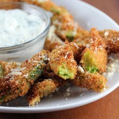 Avocado Fries with Cilantro-Ranch Dipping Sauce