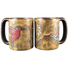 These handcrafted Hummingbird mugs from Mara Stoneware make a creative addition to any dinnerware collection. The detailed engraving and fine painting of these mugs, combined with a durable finish creates the ultimate combination of art and utility.