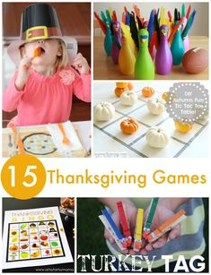 Thanksgiving games for the family. Easy ideas for while the big meal is cooking! Thanksgiving Activities For Kids, Thanksgiving Crafts For Kids, Thanksgiving Parties, Holiday Activities, Craft Activities For Kids, Thanksgiving Recipes, Activity Ideas, Thanksgiving Decorations, Happy Thanksgiving