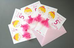 hey jen renee: tulle ballerina birthday party invites (2 ways)
