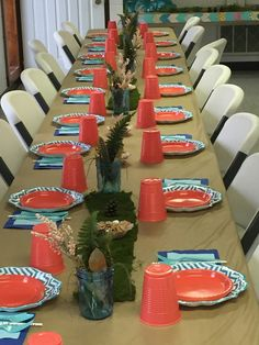 Native painted feather, fern, & flower centerpiece in blue mason jar Young Wild Free, Tribal Arrows, Blue Mason Jars, 10th Birthday Parties, Fern Flower, Flowers, Flower Centerpieces, Aztec, Feather