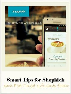 Tons of tips on using Shopkick, get free Target giftcards fast. This free app also has lots of great coupons, like free Starbucks coffee and more!  A great app to use for Black Friday deals too.