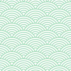 Designer Removable Wallpaper  Modern Scalloped by GailWrightatHome, $125.00 - for laundry room in navy?