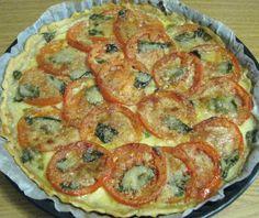 Thermomix Tarif Defterim: Mozzarella, Tomato and Basil Tart