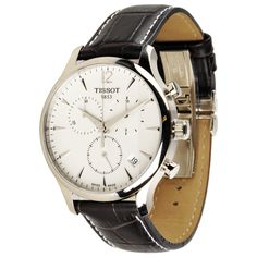 8a71c210cac Tissot Men s T0636171603700  T Classic Tradition  Silvertone Steel Watch  Itens Masculinos