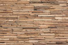 Reclaimed wood - units are like tiles of stacked slate - same type of interlocking edge. Parker - Wonderwall Studios #NeoConEast15