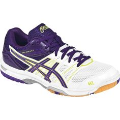 70b6a6a3 Asics GEL-Rocket 7.5 Women's Volleyball Shoes - White/Lavender/Purple Tenis,