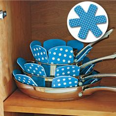 Pan Protectors - Why don't I have these? Stack pots and pans without marring them with scratches.