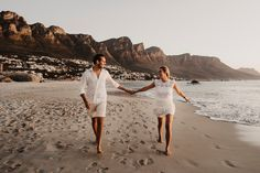Romantic Sunset Engagement Shoot in Cape Town Beach Engagement, Engagement Shoots, South Africa Beach, Sea And Ocean, Photoshoot Inspiration, Couple Shoot, Wedding Photoshoot, Camps, Cape Town