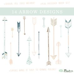 Arrow Clip Art - Digital Graphic Set -Photo Overlays
